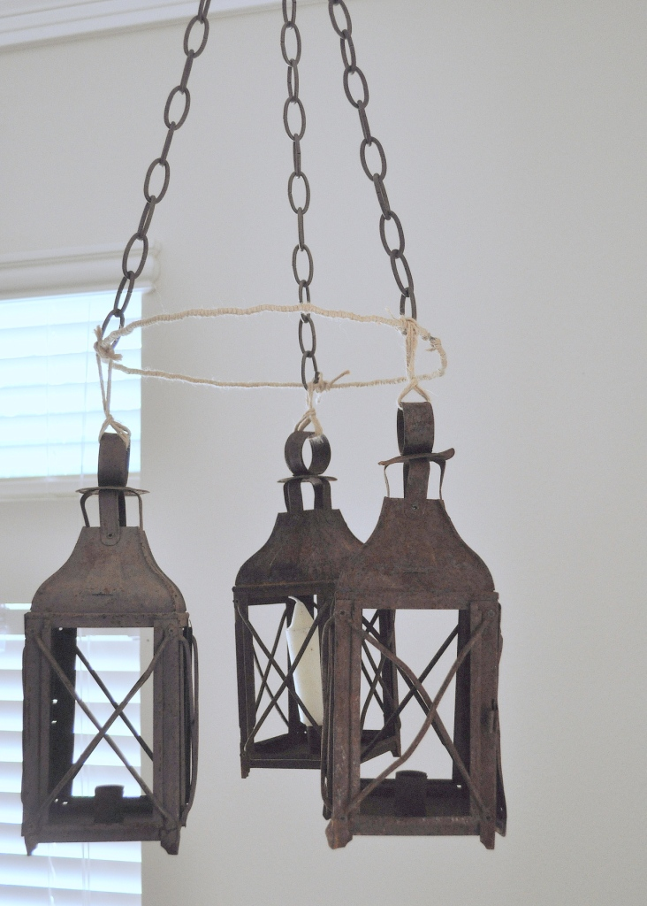 While ... - Faux Lantern Chandelier Home Sweet Homemade