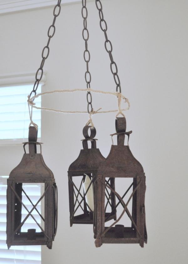 faux lantern chandelier home sweet homemade. Black Bedroom Furniture Sets. Home Design Ideas