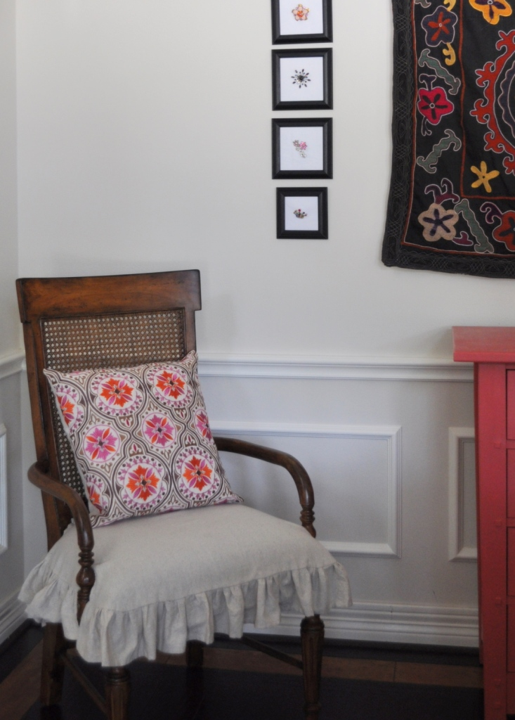 how to make dining room chair seat slipcovers